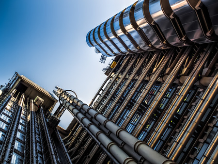 lloyd's of london: Lloyds of London building Stock Photo