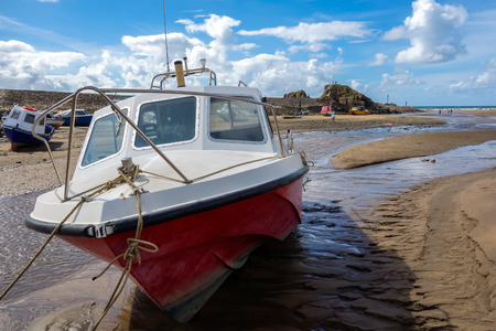 Close-up of a boat at Bude photo