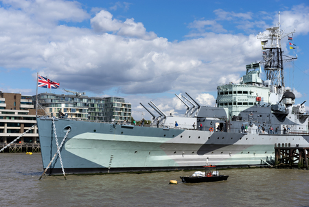 hms: HMS Belfast Stock Photo