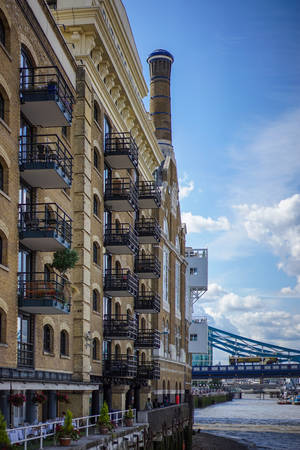 renovated: Renovated Butlers Wharf building in London