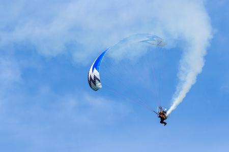 powered: Powered hang glider at Shoreham Airshow