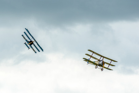 chased: Sopwith Triplane being chased by a Fokker Dr1 Triplane