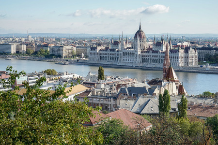 bastion: View from Fishermans Bastion Budapest