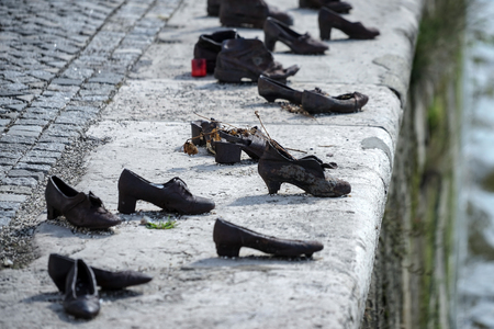 executed: Iron shoes memorial to Jewish people executed WW2 in Budapest