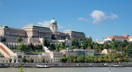 buda: View towards the Castle area of Budapest