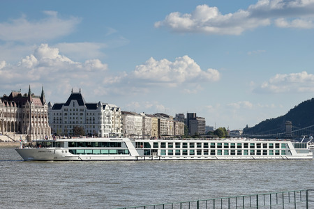 cruising: River cruise along the Danube River in Budapest