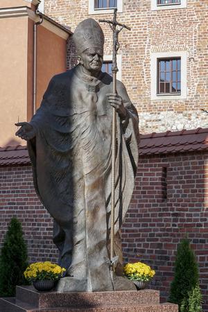 Statue of Pope John Paul in Krakow