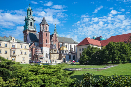 cracow: Wawel Cathedral in Krakow Poland