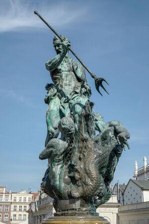 poznan: Fountain of Neptune in Poznan