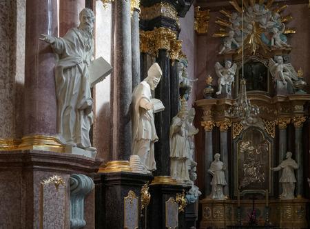 gora: Partial view Jasna Gora Monastery in Czestochowa Poland