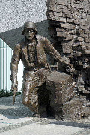 Insurgents Memorial to Polish fighters of Warsaw uprising in Warsaw Poland