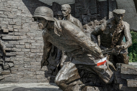 insurgents: Insurgents Memorial to Polish fighters of Warsaw uprising in Warsaw Poland