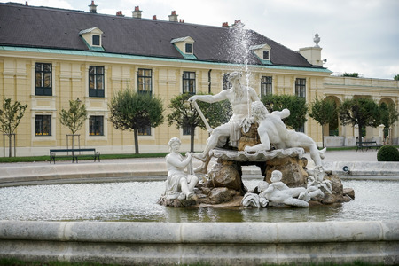 schloss schonbrunn: Galicia, Volhynia, and Transylvania statues at the Schonbrunn Palace in Vienna Editorial