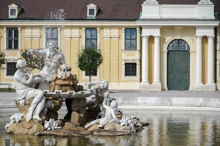 schloss schoenbrunn: Danube, Inn, and Enns statues at the Schonbrunn Palace in Vienna Editorial
