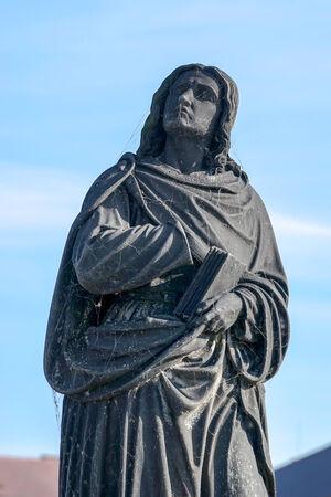 vermeil: Virgin Mary statue on Charles Bridge in Prague