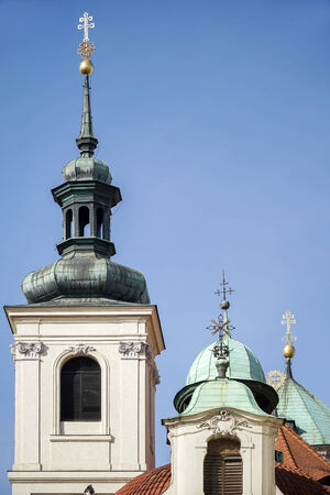 salvator: Rear view of St Salvator Church in Prague