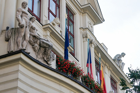 czech women: Partial view of the City Hall in Prague Editorial
