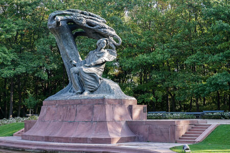 Chopin Statue in Warsaw