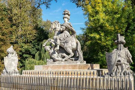 sobieski: Sobieski Monument by Franciszek Pinck in Warsaw