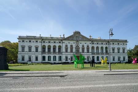warszawa: The Special Collections building of the National Library of Poland in Warsaw Editorial