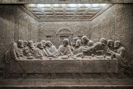 disciples: Wieliczka Salt mine near Krakow Editorial
