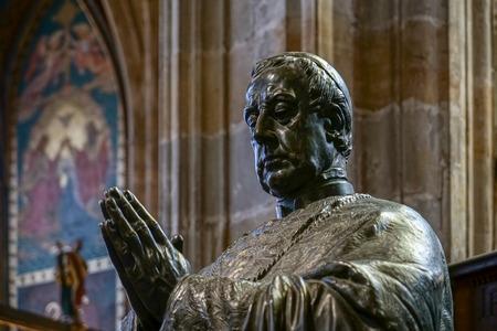 johannes: Statue of Friedrich Johannes Jacob Celestin von Schwarzenberg in St Vitus Cathedral in Prague