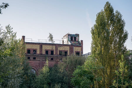 east berlin: Derelict factory in East Berlin