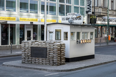checkpoint: Checkpoint Charlie in Berlin