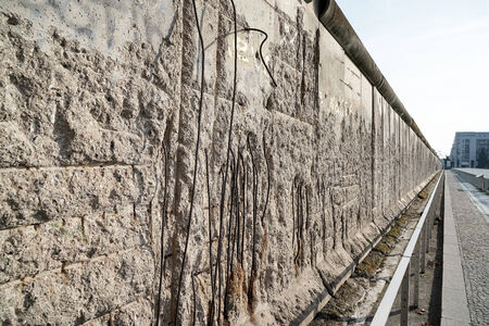 building sector: Part of the old Soviet wall dividing Berlin
