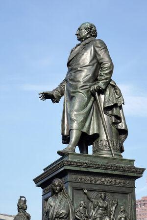 Monument to Baron Freiherr von Stein in front of the Abgeordnetenhaus in Berlin