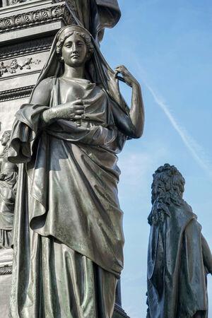 baron: Detail from the monument to Baron Freiherr von Stein in front of the Abgeordnetenhaus in Berlin