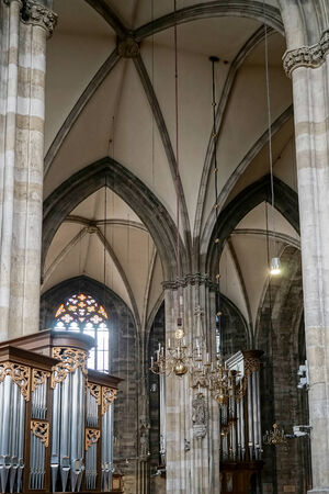 Detail view of St Stephans Cathedral in Vienna