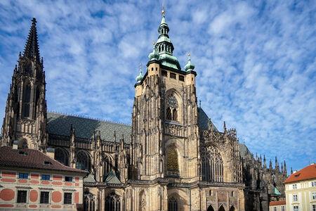 vitus: St Vitus Cathedral in Prague Stock Photo