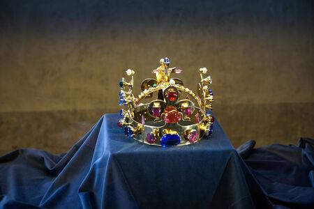 rubellite: Czech crown jewels in Vladislav Hall in Prague Editorial