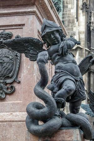 Putto Statue Marienplatz in Munich Stock Photo