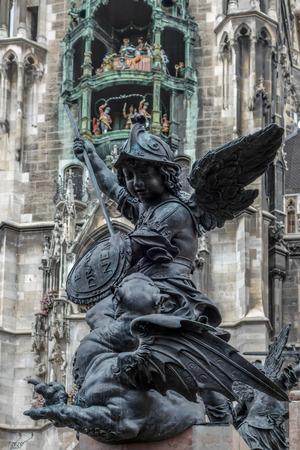 putto: Putto Statue Marienplatz in Munich Stock Photo