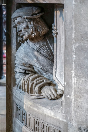 Statue in St Stephans Cathedral in Vienna photo