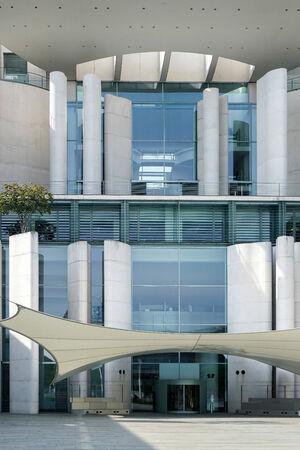 chancellerie: La r�sidence officielle construction Chancellerie f�d�rale de la chanceli�re allemande Angela Merkel � Berlin