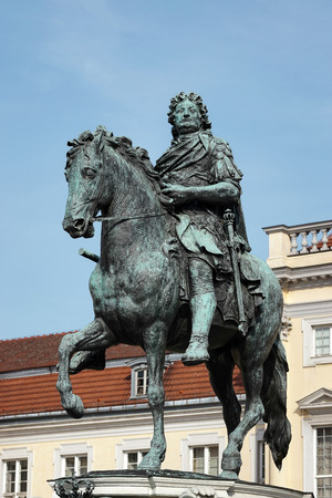 frederic: Statue of Frederic the Great at the Charlottenburg Palace in Berlin