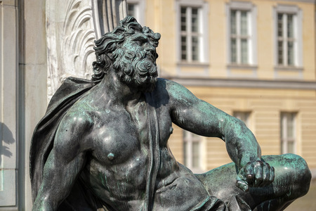 frederic: One of the four chained warriors at the base of King Frederic the Great statue Charlottenburg Palace in Berlin