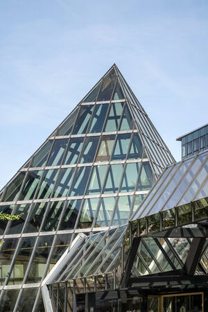 intercontinental: Glass pyramid entrance to the Inter-Continental Hotel in Berlin Editorial