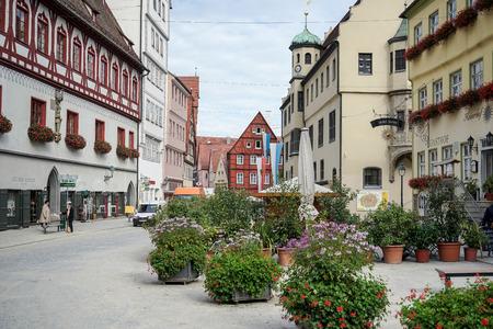 gabled house: Street scene in Nordlingen