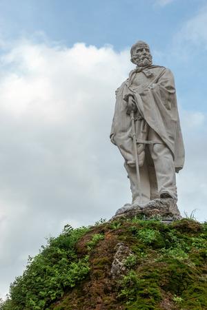 garibaldi: Statue of Garibaldi in Sarnico Stock Photo