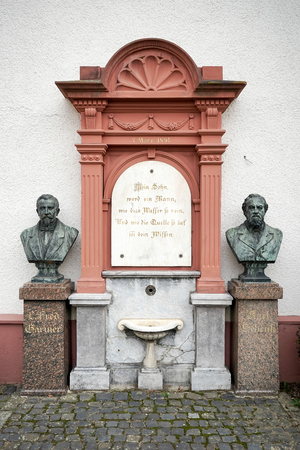 busts: Busts of Prof Dr Schenk and Fred Garnier in Friedrichsdorf