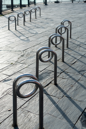 cardiff: Bicycle stand in Cardiff