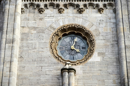 Clock at St Stephans Cathedral in Vienna photo