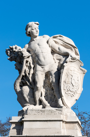 south london: Statue representing South Africa outside Buckingham Palace in London Editorial