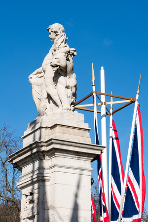 representing: Statue representing West Africa outside Buckingham Palace in London