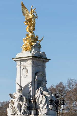 queen of angels: Victoria Memorial outside Buckingham Palace Editorial
