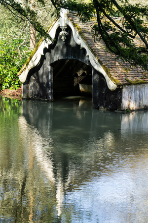boathouse: View of the boathouse on the Scotney Castle Estate
